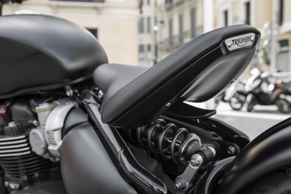La sella della Triumph Bonneville Bobber Black 2018