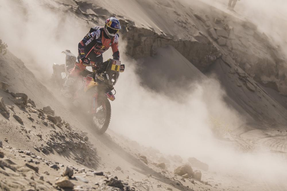Toby Price in sella alla sua KTM nella quarta tappa della Dakar 2018