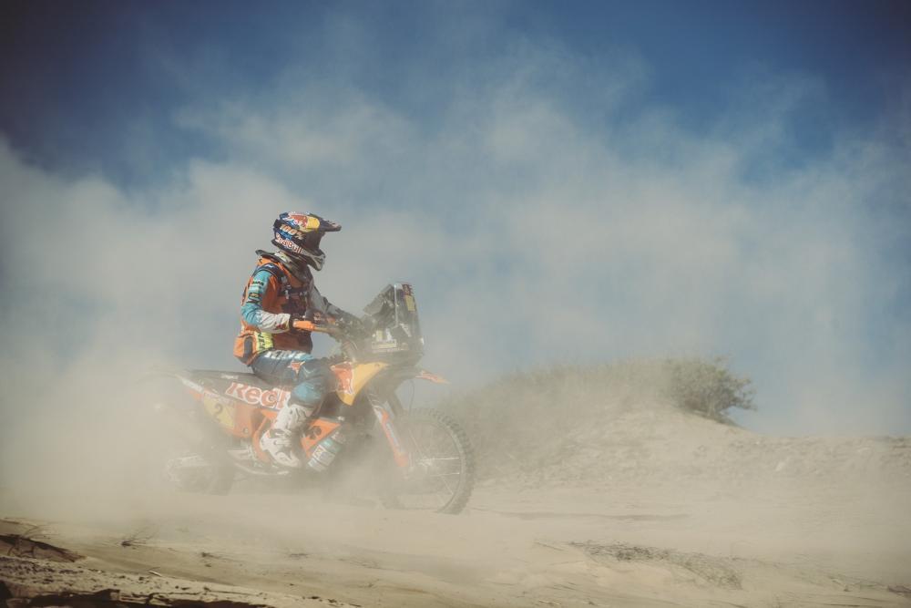 Matthias Walkner in sella alla sua KTM nella quarta tappa della Dakar 2018