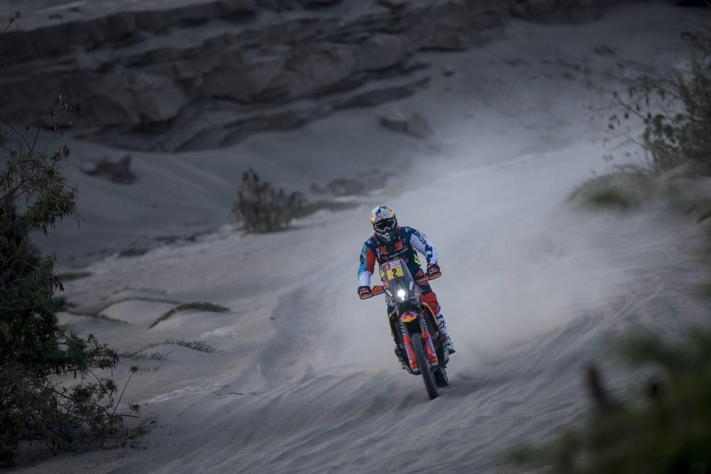 Matthias Walkner durante la quinta tappa della Dakar 2018