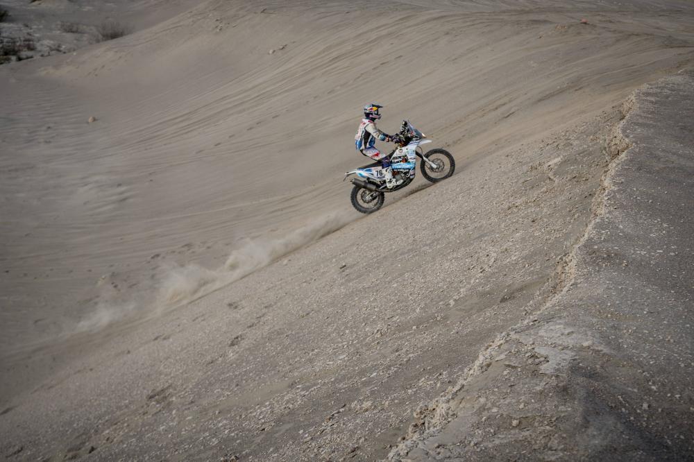 Mohammed Balooshi durante la quinta tappa della Dakar 2018