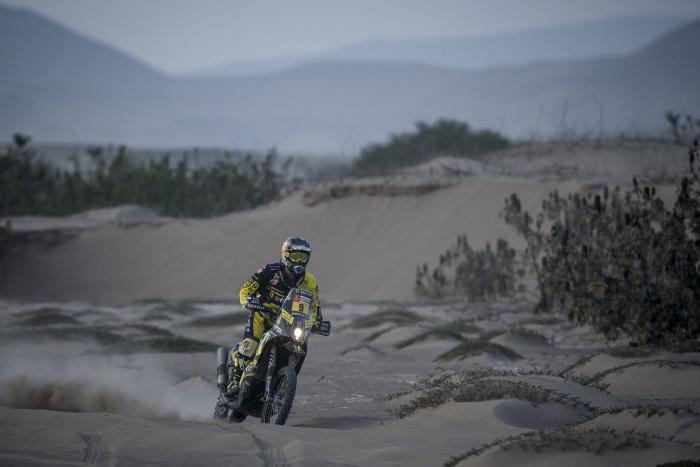 Stefan Svitko durante la quinta tappa della Dakar 2018