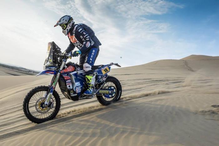 Alessandro Botturi durante la quinta tappa della Dakar 2018