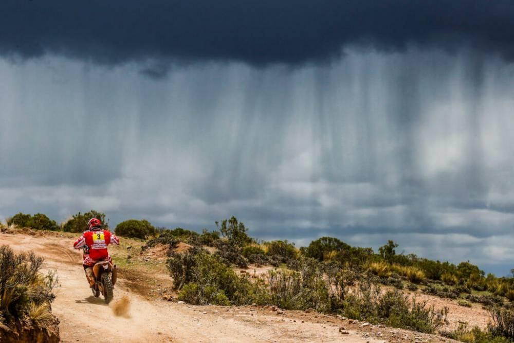 Farres Guell in sella alla sua KTM nella sesta tappa della Dakar 2018