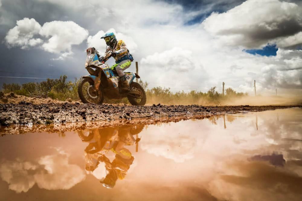 Engel Milan in sella alla sua KTM nella sesta tappa della Dakar 2018