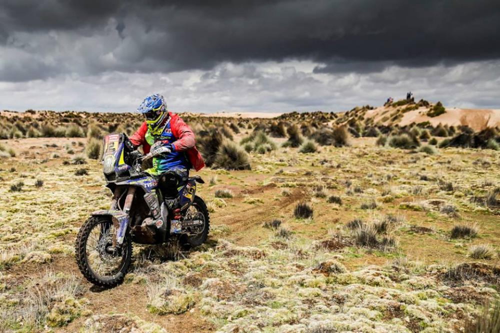 Juan Pedrero Garcia in sella alla sua Sherco nella settima tappa della Dakar 2018