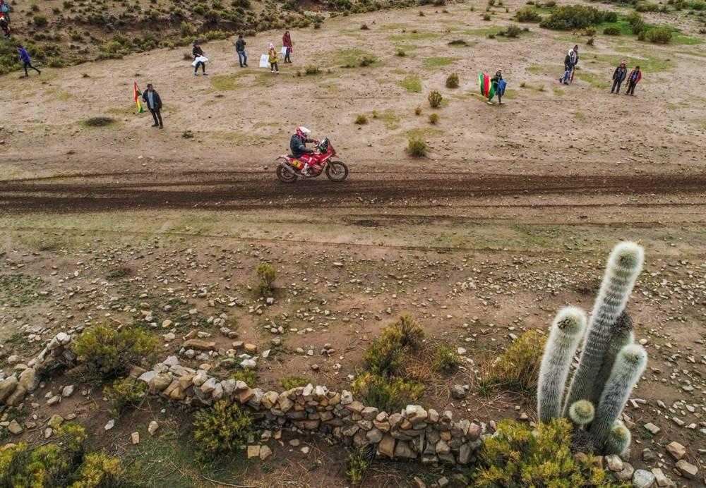 Gerard Farres Guell in sella alla sua KTM nella settima tappa della Dakar 2018