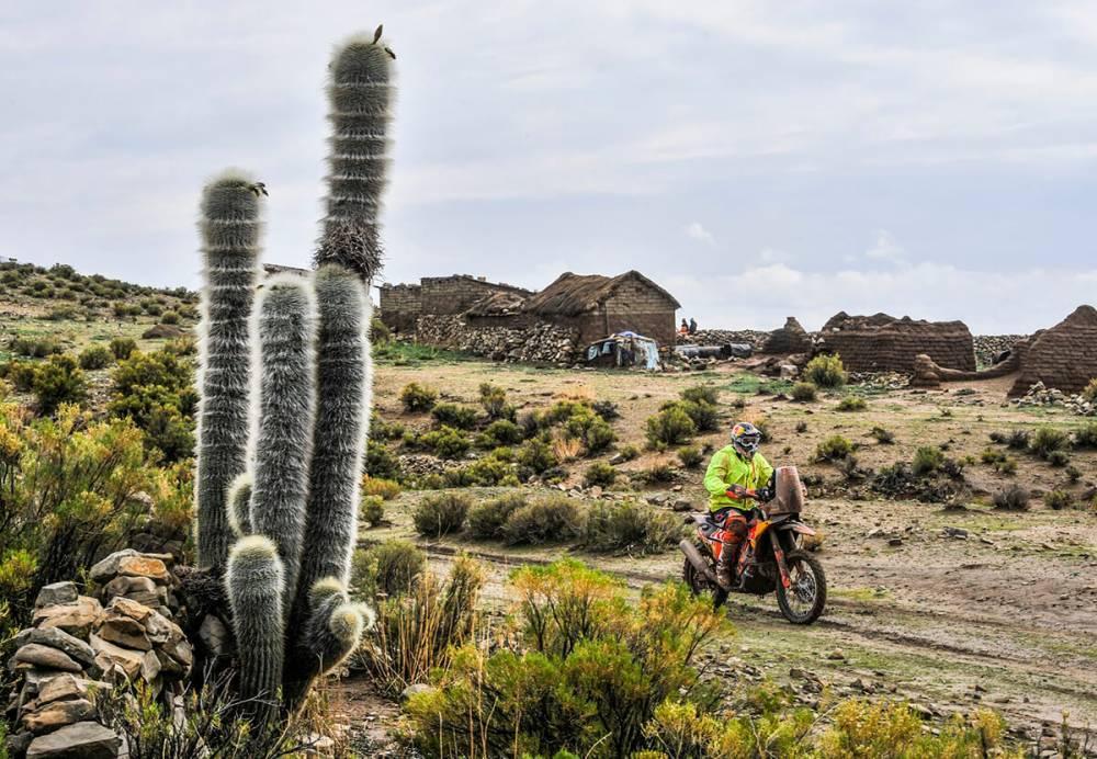 Antoine Meo in sella alla sua KTM nella settima tappa della Dakar 2018
