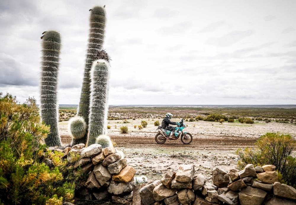 Poskitt Lyndon  in sella alla sua KTM nella settima tappa della Dakar 2018