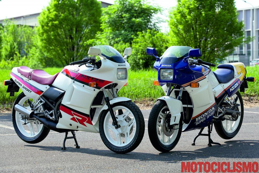 Da sinistra: Honda NS125R e NS125R2