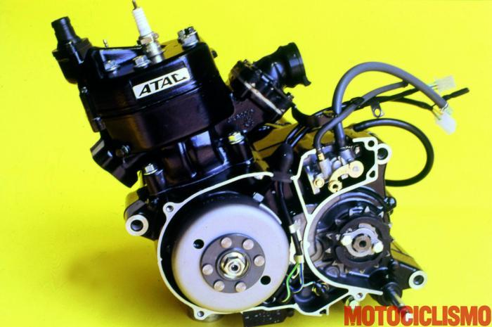 Il motore della della Honda NS-F 125 del 1984