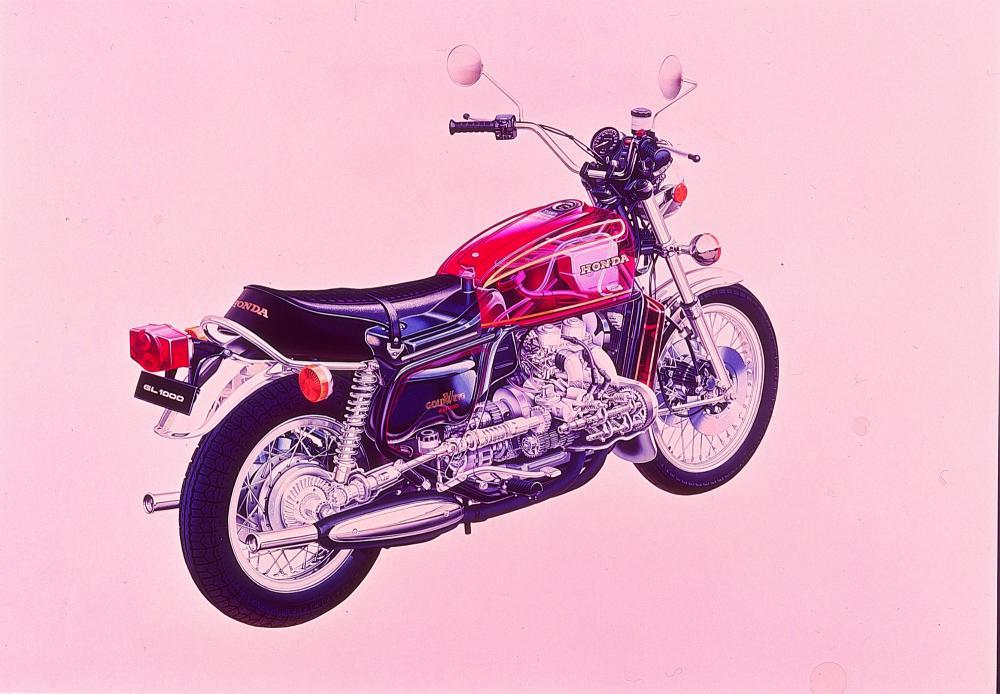 Una trasparenza della Honda GL1000 Gold Wing del 1975 ci mostra tutte le soluzioni tecnice adottate