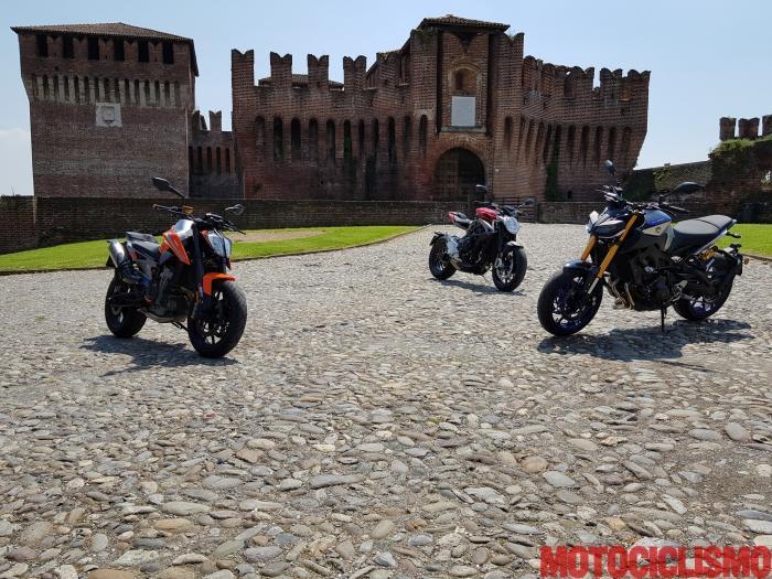 Comparativa Naked Medie 2018: KTM 790 Duke, MV Agusta Brutale 800 RR e Yamaha MT-09 SP  a Soncino (CR)
