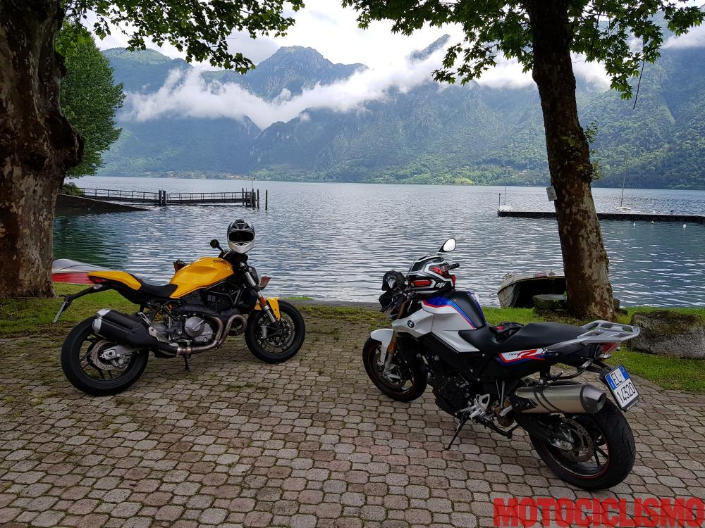 Comparativa Naked Medie 2018: Ducati Monster 821 e BMW F 800 R