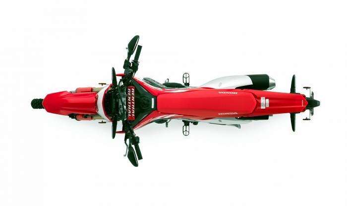 Vista dall'alto della Honda CRF450L 2019