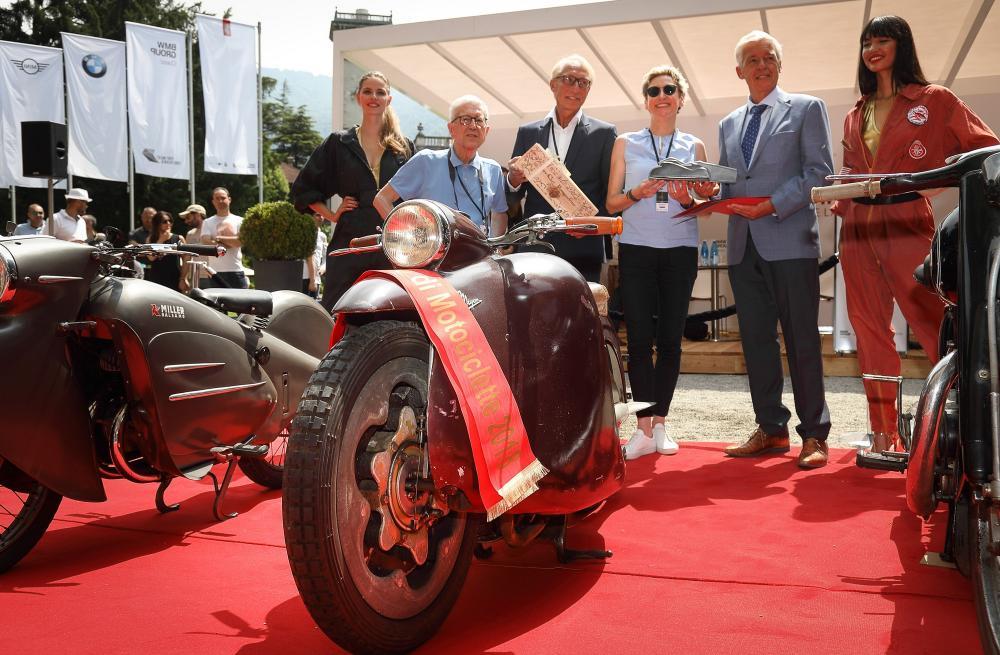 La Moto Major è stata premiata al Concorso d'Eleganza Villa d'Este con il Trofeo BMW Group dedicato alle motociclette storiche, il Primo Premio assegnato dalla Giuria, Best of Show del Concorso d'Eleganza.