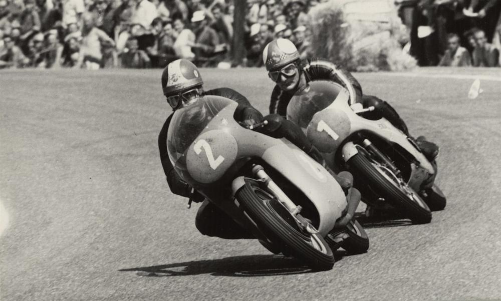 Mike Hailwood e Giacomo Agostini