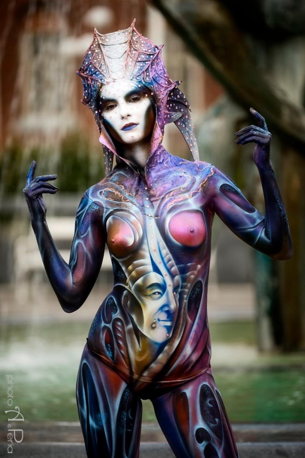 Le modelle del Swiss Bodypainting Art Festival 2013