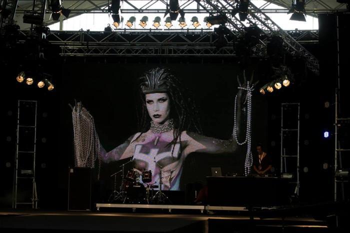 Lo stand di Vyrus al Swiss Bodypainting Art Festival 2013