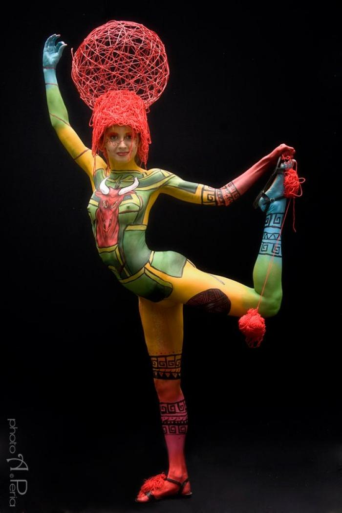 Le modelle del Swiss Bodypainting Art Festival 2013 (foto di Photo A.Peria)