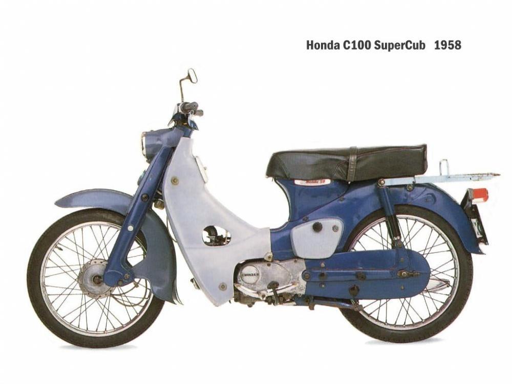 Honda Super Cub C100: il primo modello del 1958