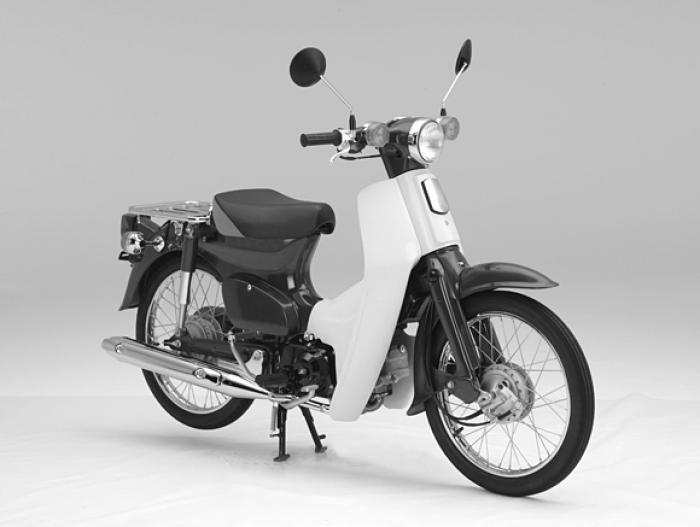 L'esempio di forma del Super Cub stabilita dal Three-dimensional Trademark Registration e diventata quindi brevetto Honda