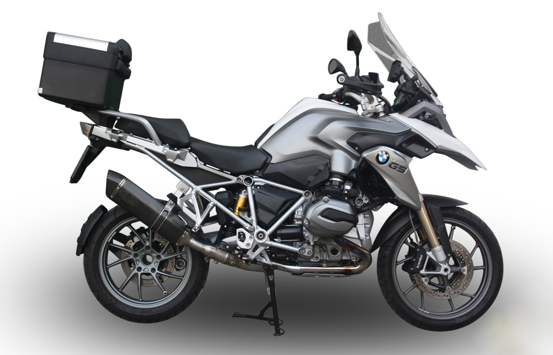 scarico exan per bmw r 1200 gs e r 1200 gs adventure motociclismo. Black Bedroom Furniture Sets. Home Design Ideas