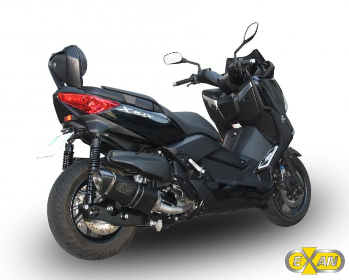 yamaha x max 400 con lo scarico aftermarket exan x black pi potenza e agilit motociclismo. Black Bedroom Furniture Sets. Home Design Ideas