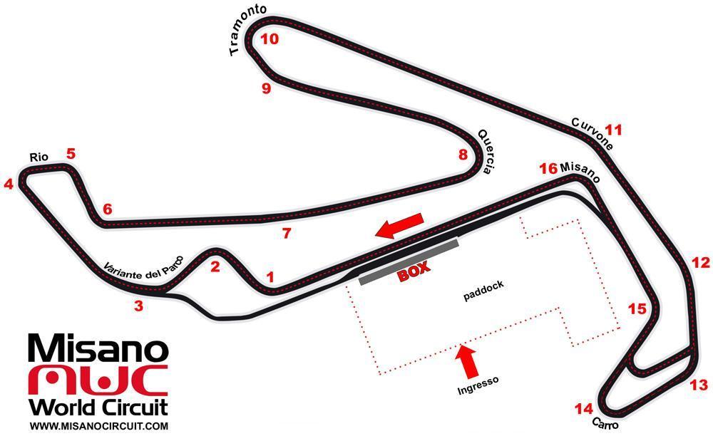 Circuito Misano Simoncelli : Misano circuito marco simoncelli divertimento in riva al